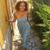 Sarouel coton bleu