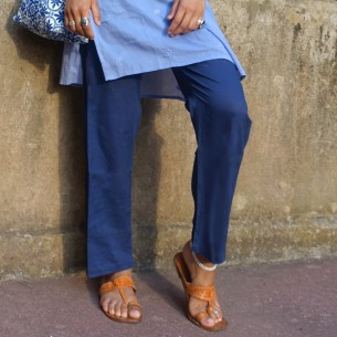 Cotton voile trouser
