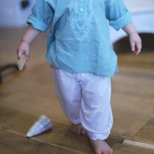 Pantalon bébé coton blanc