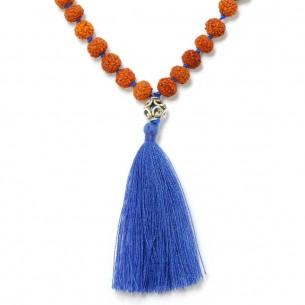 Mala rudraksha Lapis lazuli - COSTUME JEWELRY  -