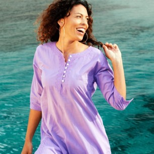 Tunique de plage pourpre - KAFTANS & TUNICS -
