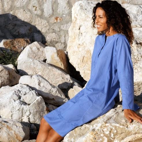 Tunique indienne bleu indigo - Bohemian tunics - Tortue de Mer