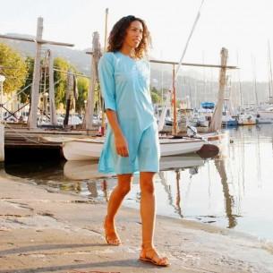 Tunique de plage turquoise clair - KAFTANS & TUNICS - Tortue de Mer