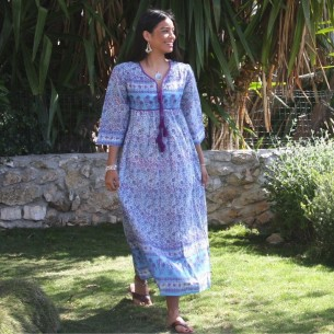 Robe longue vintage - LONG BOHEMIAN DRESSES - Tortue de Mer