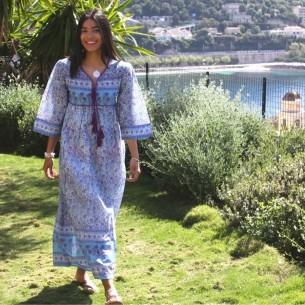 Robe longue vintage - LONG BOHEMIAN DRESSES - Tortue de Mer