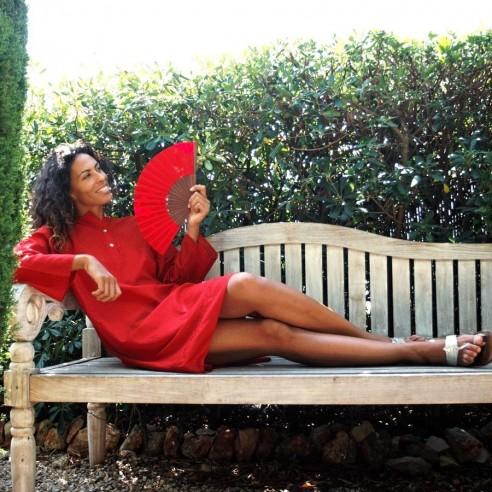 Tunique indienne rouge - Bohemian tunics - Tortue de Mer
