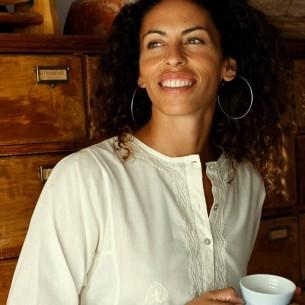 Tunique indienne crème - Bohemian tunics -