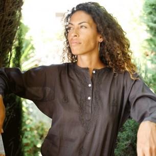 Tunique indienne marron - Bohemian tunics -
