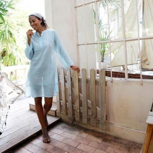 Tunique indienne turquoise clair - Tuniques indiennes -