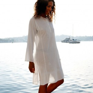 Tunique indienne blanche - Bohemian tunics -