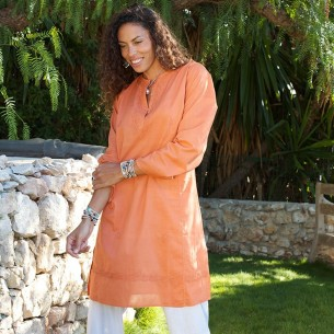 Tunique indienne safran - Bohemian tunics -