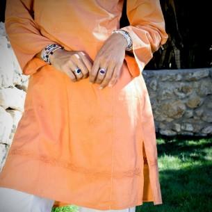 Tunique indienne safran - Bohemian tunics -