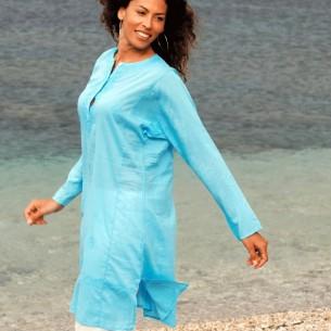 Tunique indienne turquoise - Tuniques indiennes -