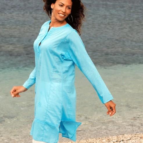 Tunique indienne turquoise - Bohemian tunics -