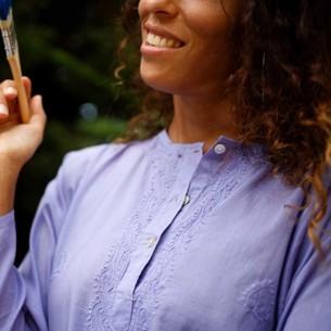 Tunique indienne violette - Bohemian tunics -