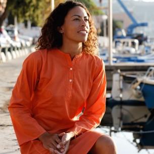 Tunique indienne orange - Tuniques indiennes -