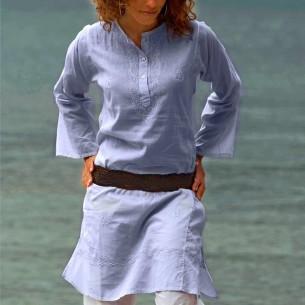 Tunique indienne bleu lavande - Bohemian tunics -