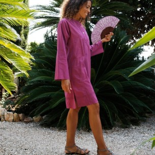 Tunique indienne rose bis - Bohemian tunics - Tortue de Mer