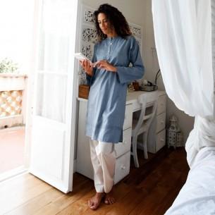 Tunique indienne bleu acier - Bohemian tunics -