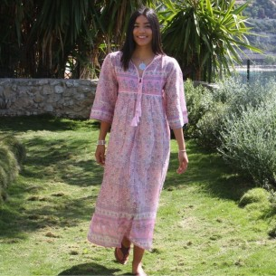 Robe hippie chic Amala - ROBES LONGUES BOHÈMES CHIC - Tortue de Mer