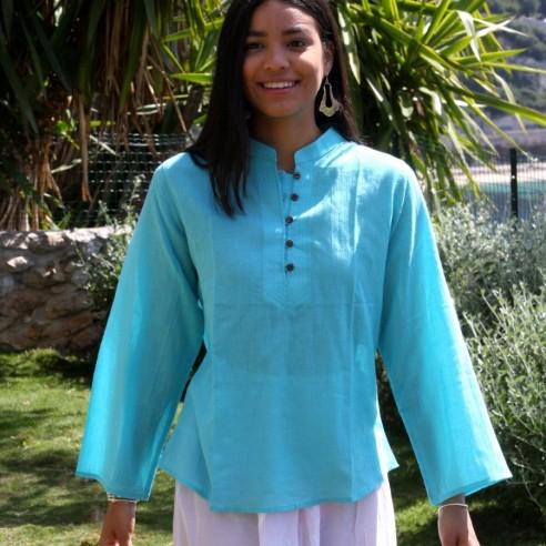 Cotton voile tunic - KAFTANS & TUNICS - Tortue de Mer