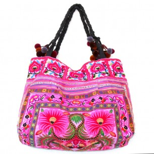 Sac ethnic tribal rose - EMBROIDERED BAGS - Tortue de Mer