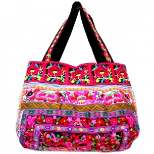 Sac ethnic tribal noir - EMBROIDERED BAGS - Tortue de Mer