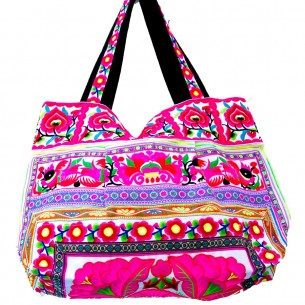 Sac ethnique tribal blanc - EMBROIDERED BAGS - Tortue de Mer