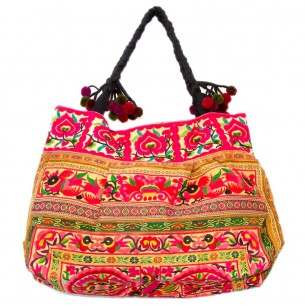 Sac ethnique tribal safran - EMBROIDERED BAGS - Tortue de Mer