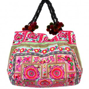 Sac ethnique tribal vert - EMBROIDERED BAGS - Tortue de Mer