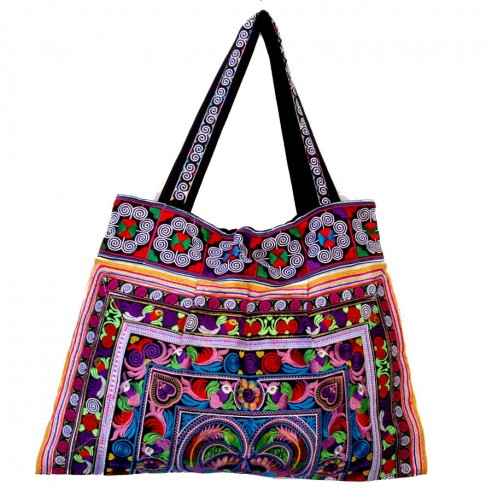 Sac broderies - EMBROIDERED BAGS - Tortue de Mer