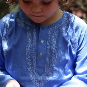 Tunique coton enfant indigo - KIDS & TEENS - Tortue de Mer