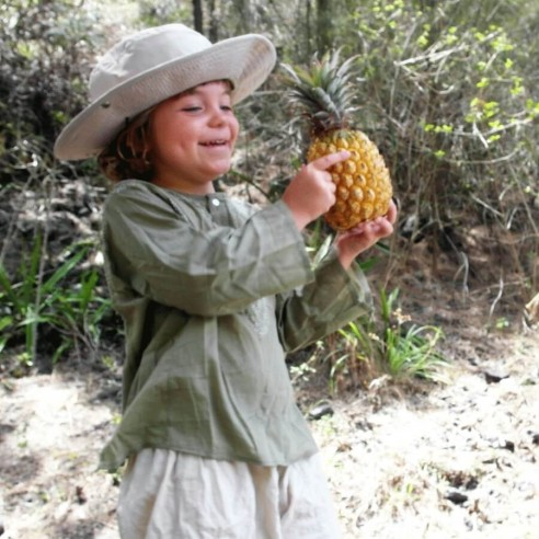 Tunique coton enfant kaki - KIDS & TEENS - Tortue de Mer