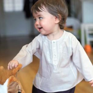 Baby beige summer kaftan
