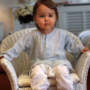 vetement bebe original bleu