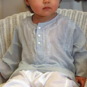 tunique bebe bleue