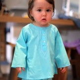 tunique bebe turquoise