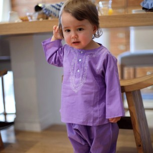 Baby purple summer kaftan