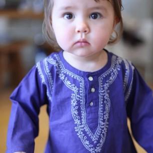 Baby dark blue summer kaftan