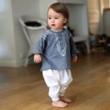 vetement bebe original gris