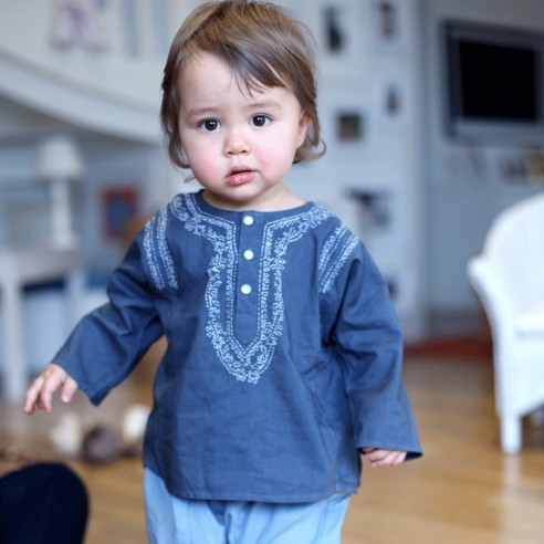 Baby gray summer kaftan