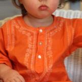 vetement bebe ethnique orange