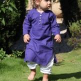 Tunique bébé fille bleue