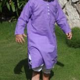 tunique brodee violette