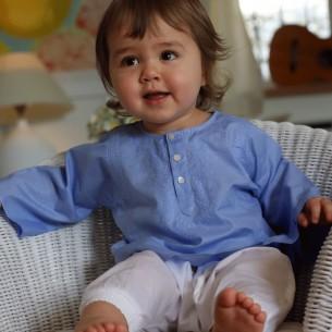 Tunique bébé fille bleu
