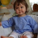 tunique bébé bleu