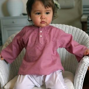 Tunique bébé fille rose