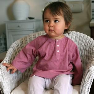Tunique bébé garçon rose