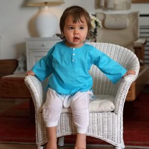 Tunique bébé fille turquoise
