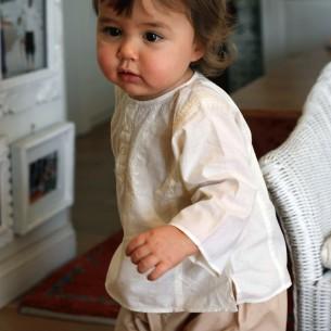 Baby vanila cotton kaftan